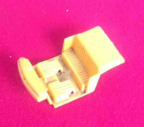 Dinky Toys 165 - Original - Ford Capri Yellow Seating Unit ( No steering wheel and no seat backs )